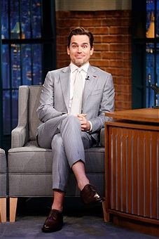 """NBC's """"Late Night with Seth Meyers"""" With Guests Colin Farrell, Matt Bomer, Maria Bartiromo"""