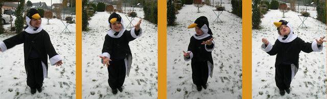 Kir en haar vrije tijd: Last minute carnavaloutfit: handleiding voor een pinguinkop