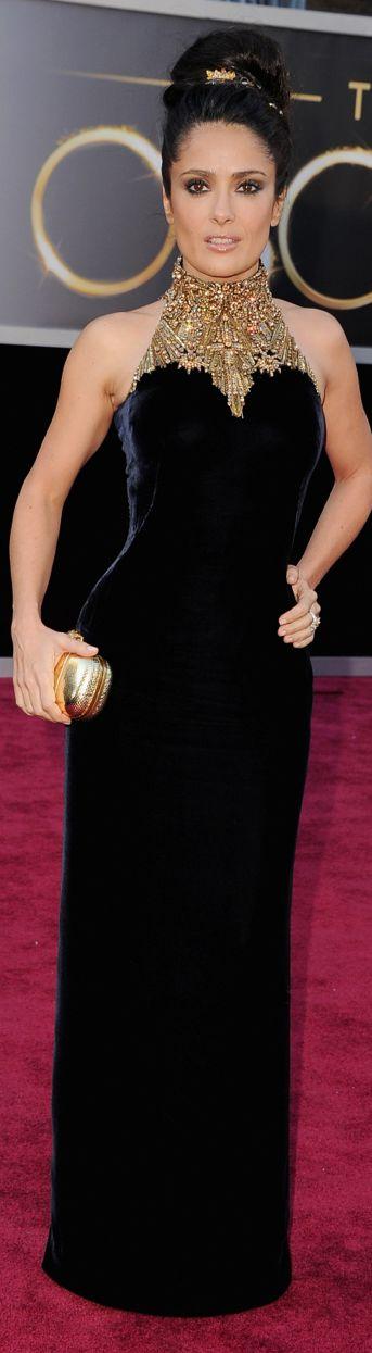Salma Hayek 2013 Oscar Red Carpet - Alexander McQueen