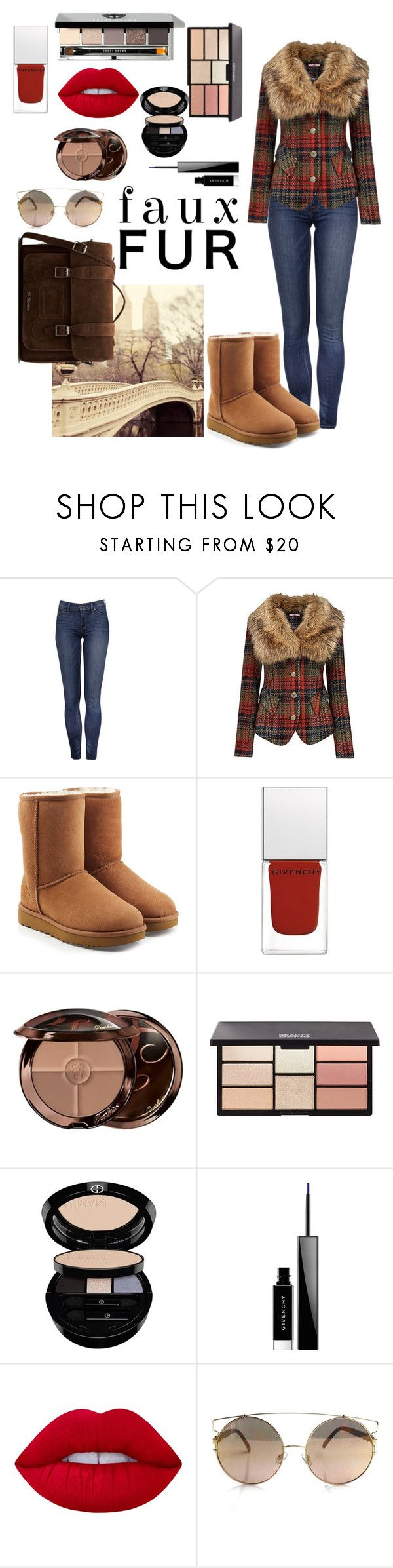 """""""Faux Jacket Contest"""" by kitty-cat130 ❤ liked on Polyvore featuring Joe Browns, UGG, Givenchy, Guerlain, Bobbi Brown Cosmetics, Giorgio Armani, Lime Crime and Dr. Martens"""