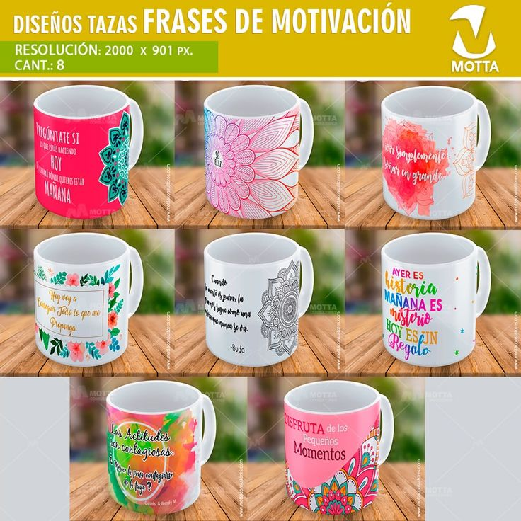 MENSAJES MOTIVACION PARA SUBLIMACIÓN DE TAZAS #SUBLIMATION #mottaplantillas