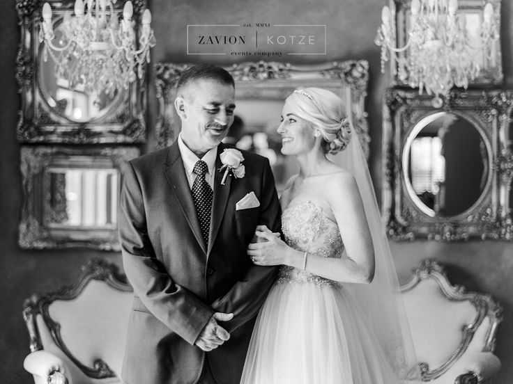Father and Daughter before the wedding.
