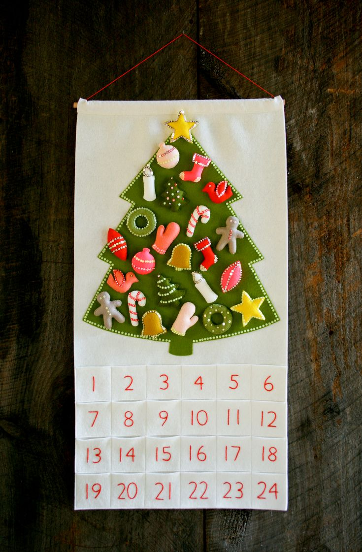 "Love it! Purl Soho Advent Calendar Kit from the Martha Stewart American Made Program contains ""absolutely everything you'll need to hand craft the world's most charming Advent Calendar."" #diy #christmascrafts"