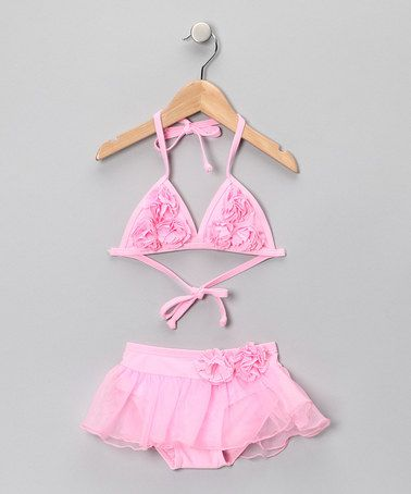 Pink Ruffle Bikini - Toddler & Girls #zulily #zulilyfinds