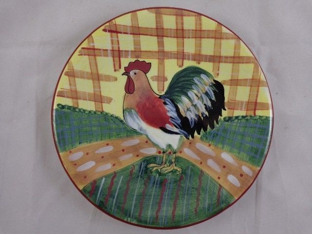 Susan Winget CIC Rooster Chicken Country Decor 8  Porcelain Salad Dessert Plate & 142 best Susan Winget Dinnerware images on Pinterest | Cutlery ...