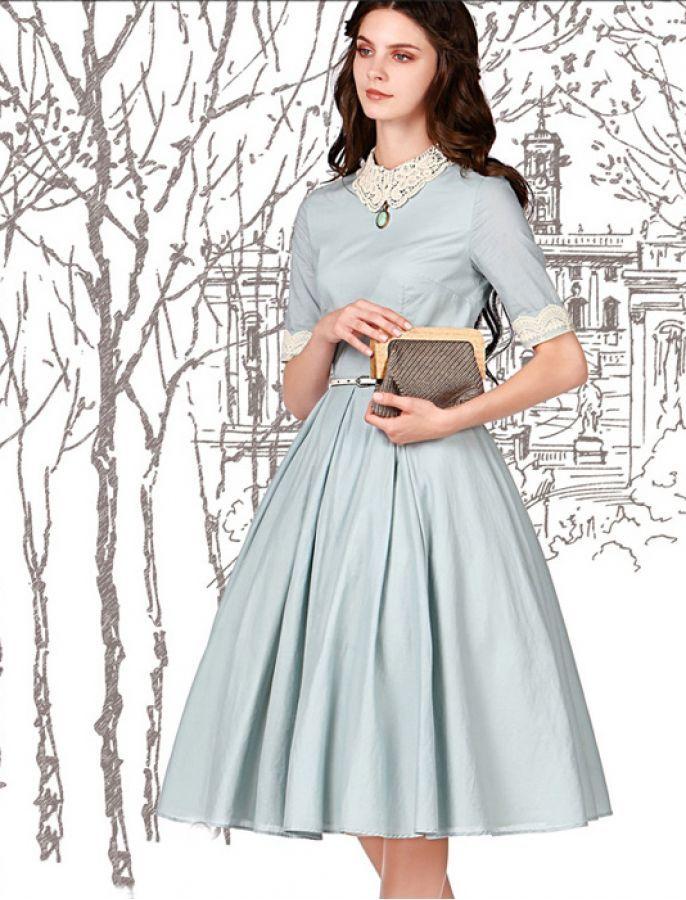 Vintage Inspired Style 1950s Fashion Elegant Dress