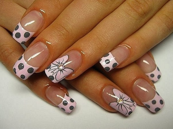 Pink Tips with Bow Design