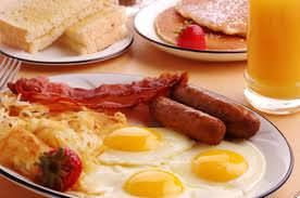 In your breakfast you can eat animal fats and whole grain carbs