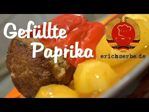 Gefüllte Paprikaschoten (von: C. Teicher) - Essen in der DDR: Koch- und Backrezepte für ostdeutsche Gerichte   Erichs kulinarisches Erbe