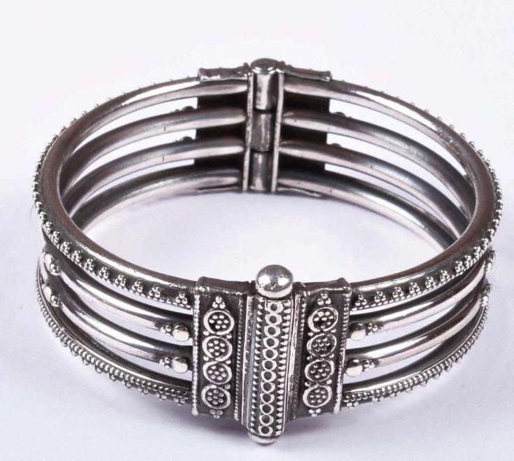 925 Solid Sterling Silver Bangle Stylish Jali Work Easy to Open 53 mm JSBG-30 #Handmade #Bangle