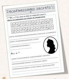 Décod'secrets - Message à décoder à l'aide des tables de multiplication