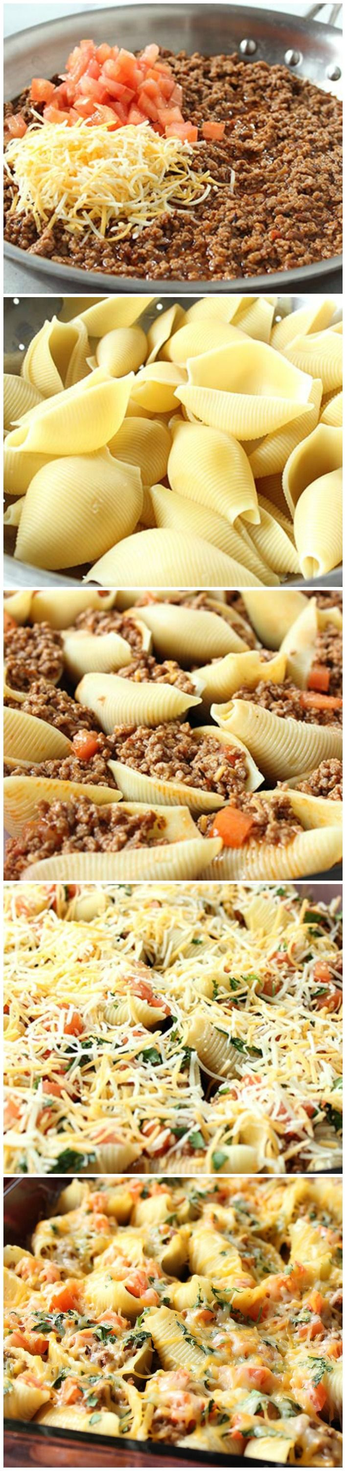 Taco Stuffed Pasta Shells (Original recipe was missing, so I put alternative…