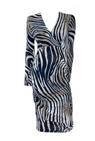 Zebra Crossover Dress