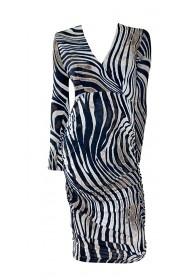 Zebra Crossover Dress