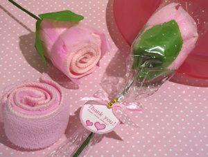 Pink Rose Towel Favors image