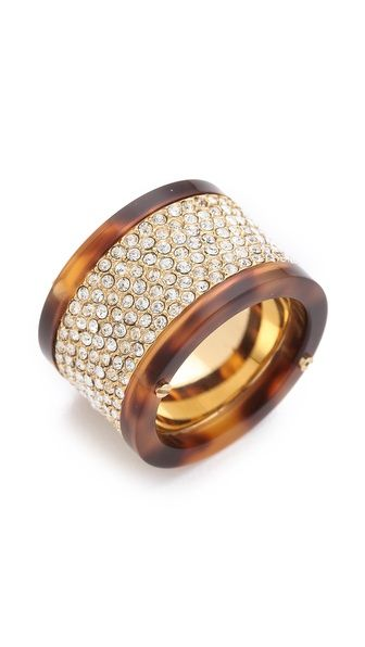 fun ring with tortoiseshell bands
