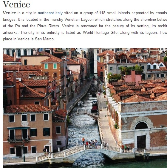Island In Venice Linked With San Marco Island