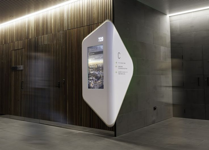 Wayfinding Solution Design by: Alexander Meeks of Adherettes Application: Wayfinding signage Corian® Colour(s): Designer White, Canvas, Dove Joiner: Cook and Nation