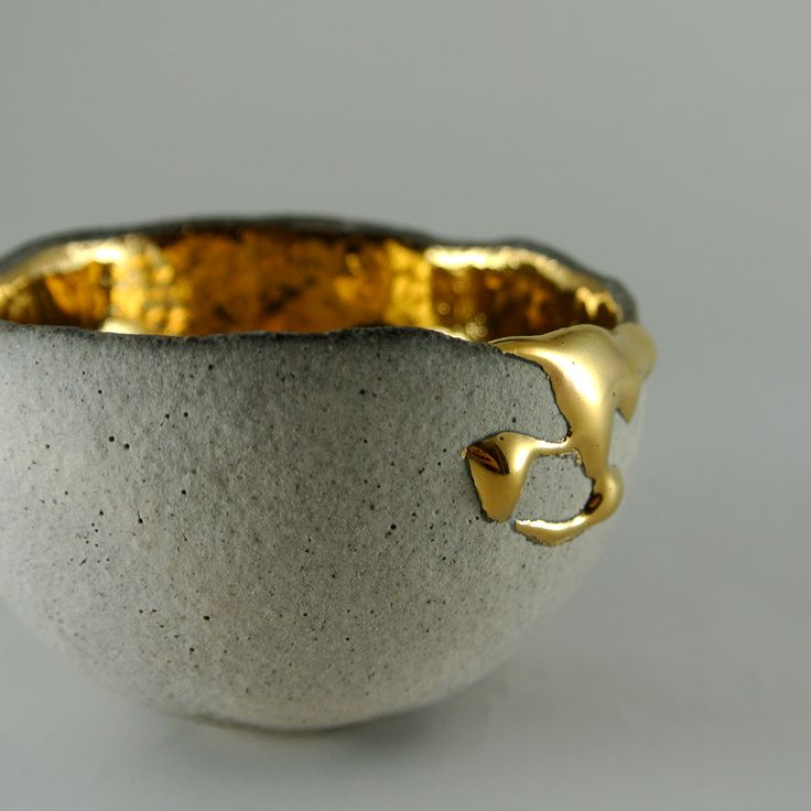 Beautiful gold and stone texture contrast