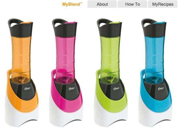 Oster MyBlend - A small blender and individual bottle, great for making a shake or smoothie in your dorm room or apartment at college