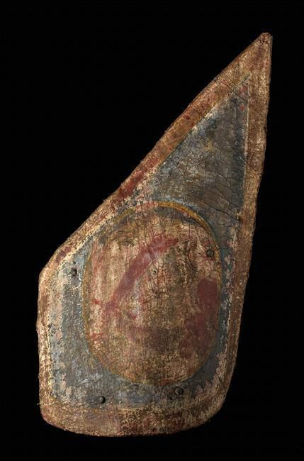 Hussar Shield shape my be turkish notice the arm and sword