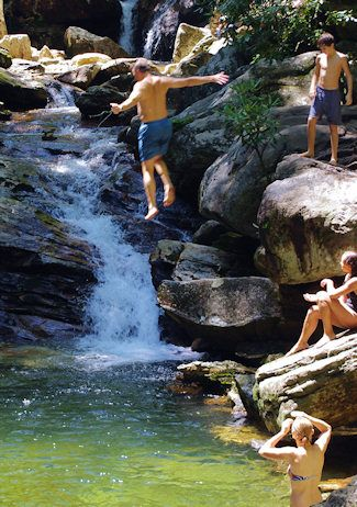 Day trip: Skinny Dip Falls, Blue Ridge Parkway Waterfall