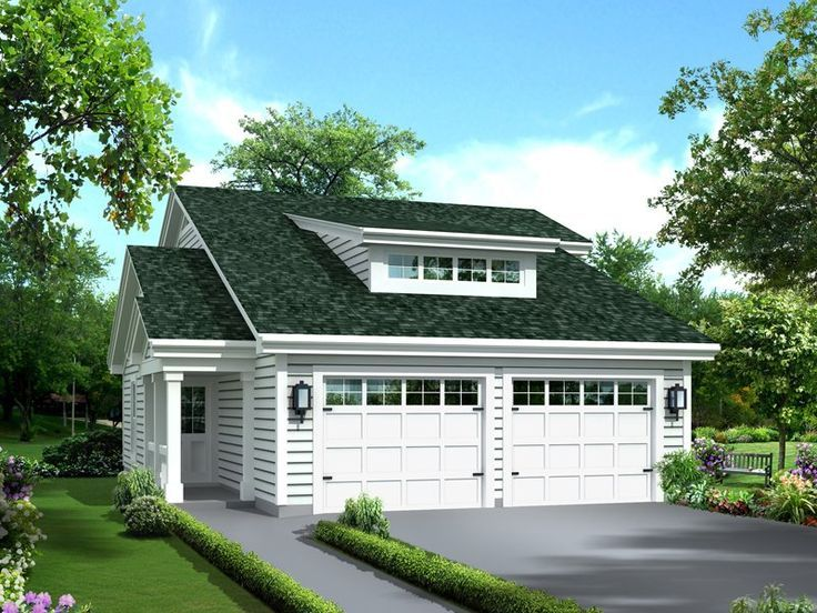 This Charming Home Has A Double Door Entry Clerestory Roof And A Beautiful Colu Carriage House Plans Garage Guest House Garage House Plans