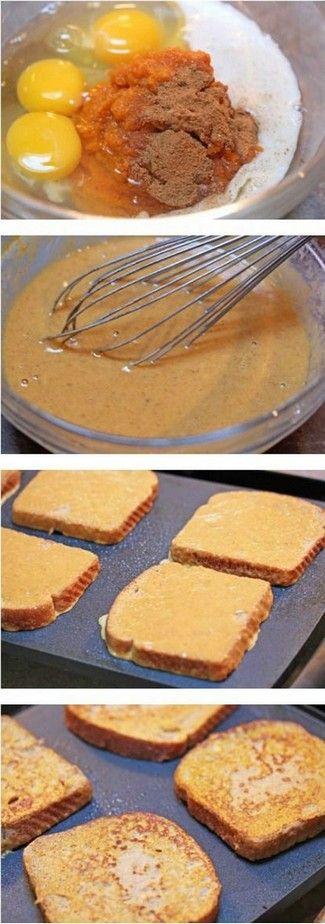 Pumpkin Pie French Toast | Foodboum. http://www.foodboum.net/pumpkin ...