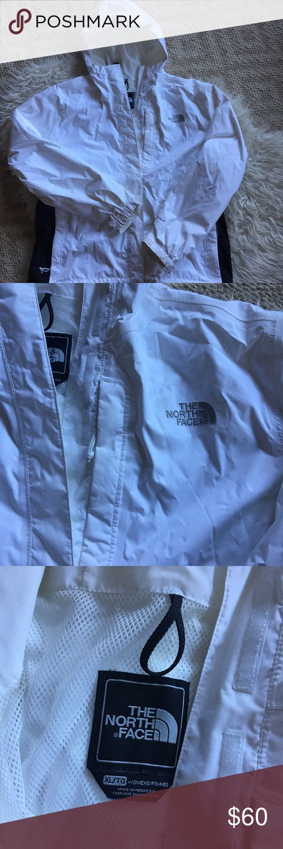 North Face Hyvent Rain Coat Jacket waterproof XL Waterproof coat by north face. Lightweight. Has some marks on wrists but should come off. The North Face Jackets & Coats