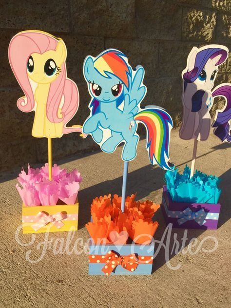 My Little Pony Birthday Party Centerpiece Favors Guest Table Decoration for Birthday Party Food Court Candy Buffet My Little Pony ONLY 1