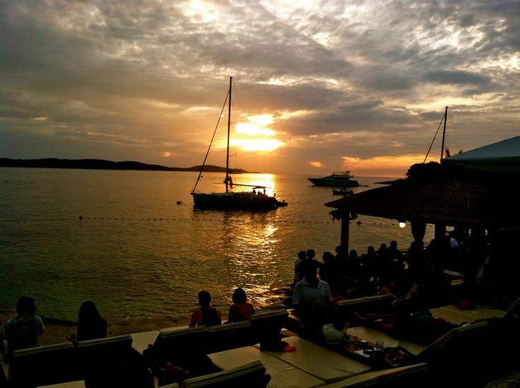 Sunset at Hula Hula Beach -  Hvar Island, Croatia