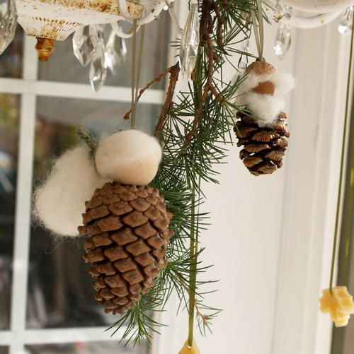 507 best images about penquins and pinecones on pinterest for Pine cone ornaments