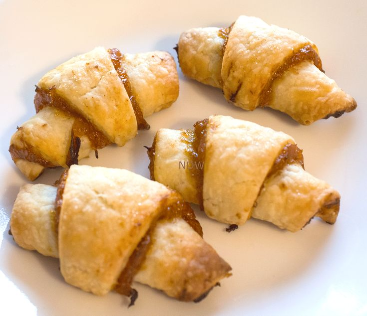 Rugelach w/Apricot Filling