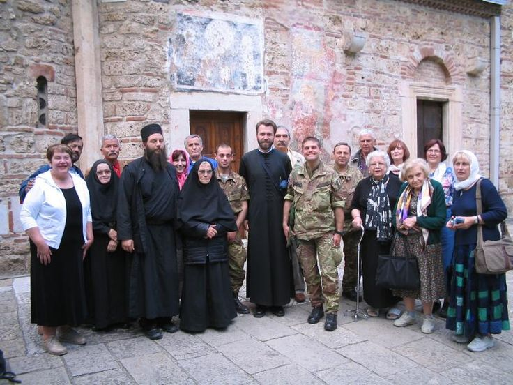 "This photo was taken in front of the Pec Monastery in Kosovo, in 2006, during a ""Tour of Serbian Monasteries."" Surely, this Serbian Monastery, the Seat of the Serbian Patriarchate at the time of the Battle of Kosovo in 1389, attests to the rightful heritage of this Holy Land, the Serbian Jerusalem!"