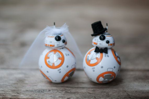 BB-8 Wedding Cake Topper by ArmyWifeArtist on Etsy