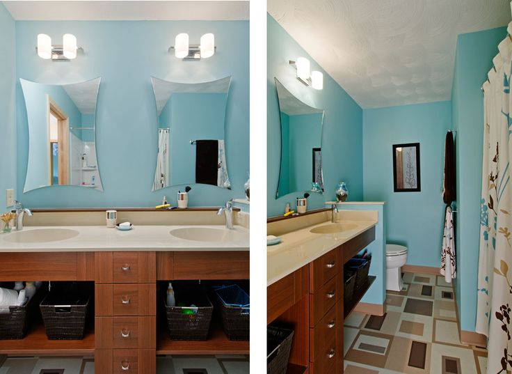 29 best images about blue brown bathroom on pinterest for Brown and red bathroom ideas