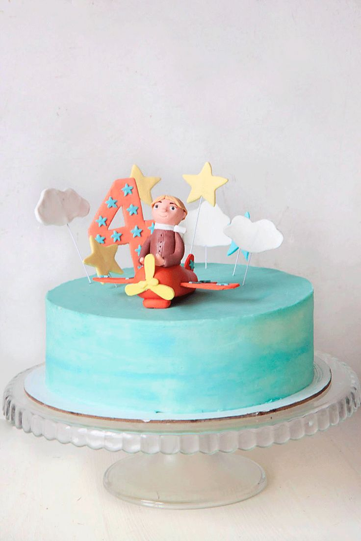 детский торт на день рождение по мотивам Маленький принц от кондитерской радости-сладости. Kids birthday cream cheese buttercream cake the little prince