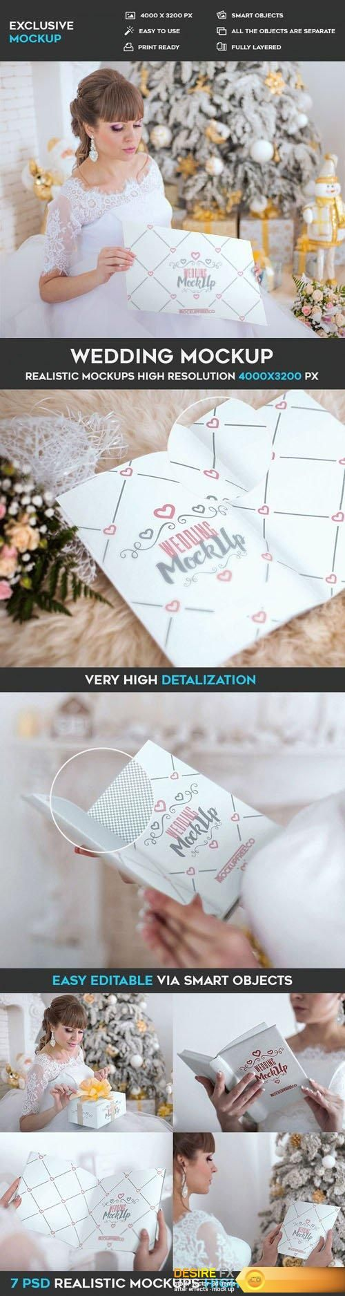 Wedding Invitation, Poster and Book - 7 PSD Mockups http://www.desirefx.me/wedding-invitation-poster-and-book-7-psd-mockups/