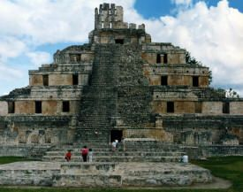 This is a photo of the Mayan site Edzna. Build around 400 B.C. and uninhabited by 1500 A.D., this site shows the expanse of the Mayan empire as well as its technological advances.