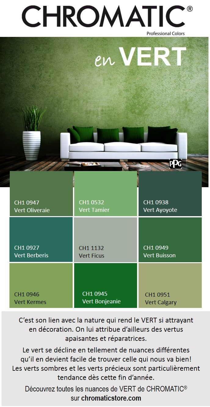 Les 25 meilleures id es de la cat gorie couleurs de salon - Quelle couleur va avec le vert ...