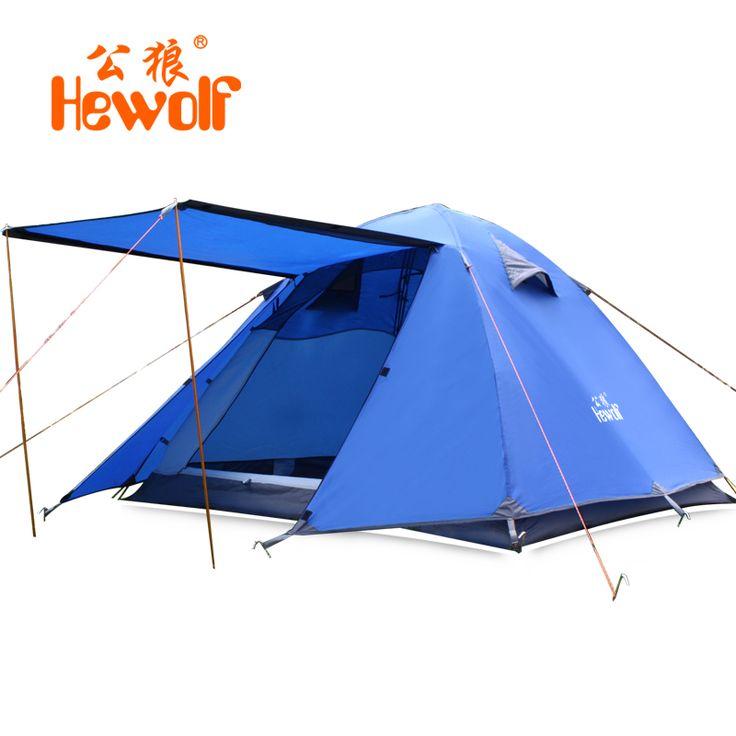 Hewolf Waterdichte Camping Tenten Dubbellaags 3-4 Persoon Outdoor Familie Strand Reizen Tent 4 Seizoen Vissen Jacht Tent #Affiliate