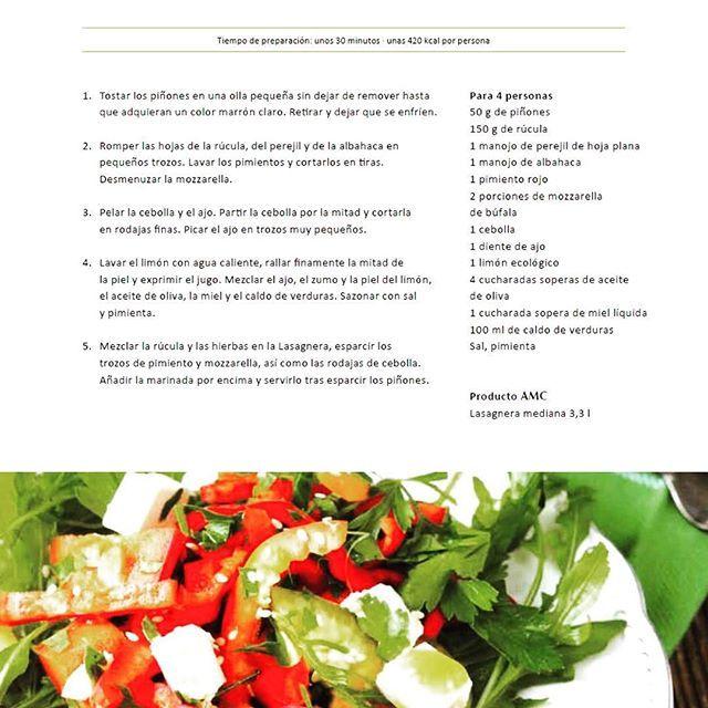 Ensalada de rúcula con mozzarella y pimientos¡La mejor manera para pasar un verano AMC!