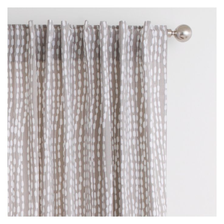 TRENE Pair of grey patterned curtains 145 x 230cm | Buy now at Habitat UK