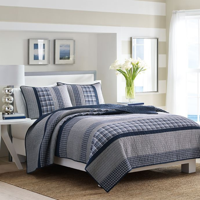 Nautica Adelson Quilt In Navy Nautical Bedding Sets Cotton