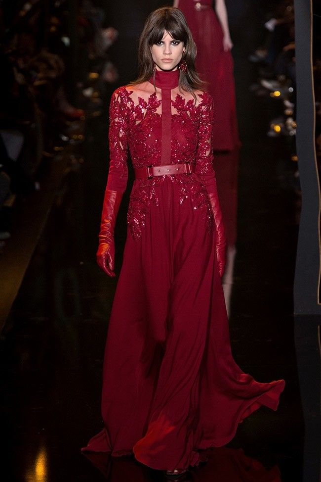 A look from Elie Saab's fall 2015 runway show