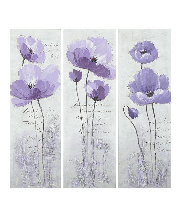 Look What I Found On Zulily Purple Poppy Canvases Set Of Three By