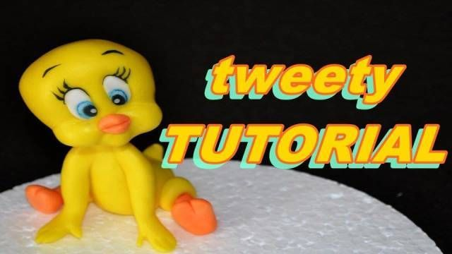 TWEETY CAKE TOPPER FONDANT SUGAR PASTE BABY LOONEY TUNES TYTTY TORTA PASTA ZUCCHERO - CakesDecor