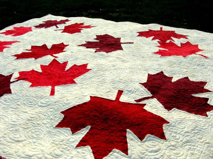 Canadian Maple Leaf Quilt. If I only lived in Canada