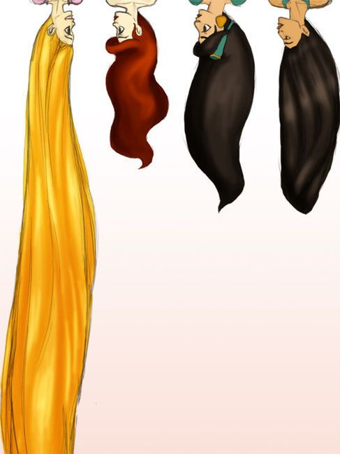 the amazing hair of disney ❤