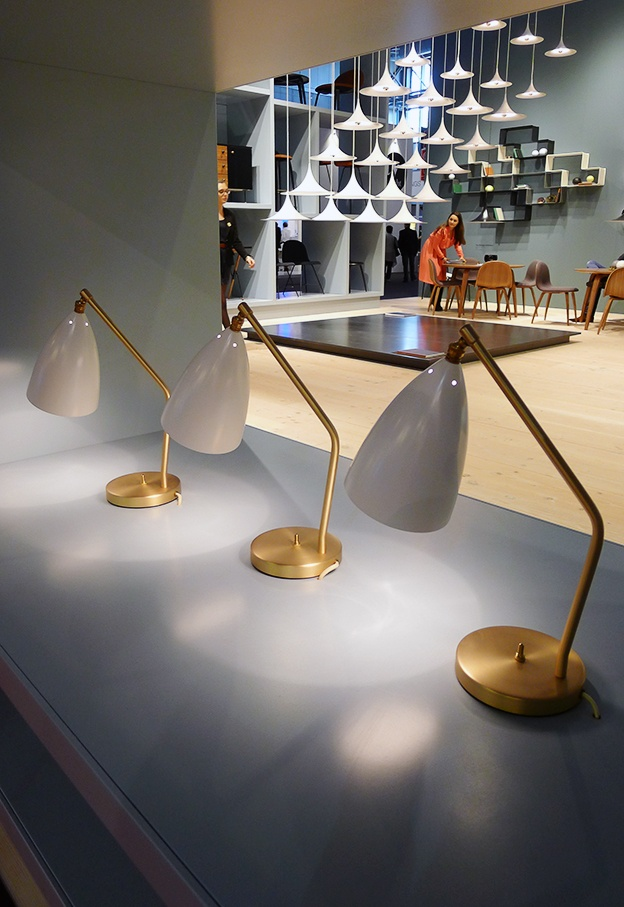 Milano Euroluce 2013: Grasshopper table lamps by Greta Magnusson Grossman manufactured by Gubi